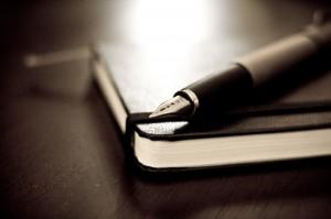 Fountain pen and moleskine