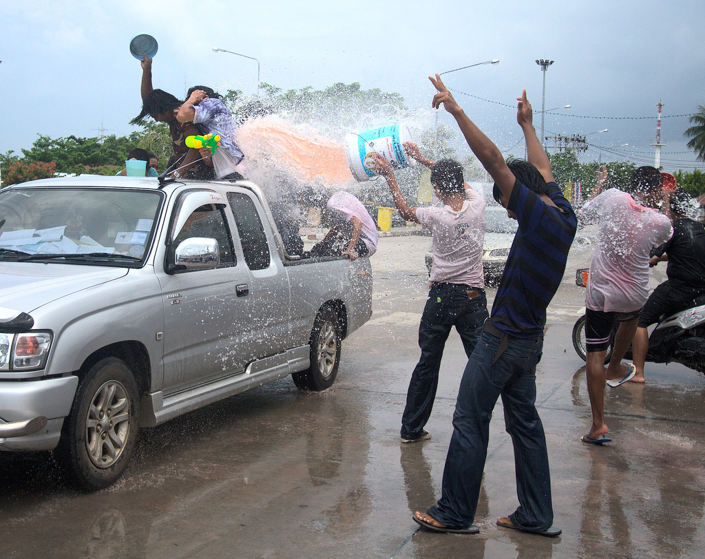 Songkran attack!