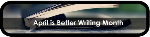 Better Writing Month moleskine notebook banner