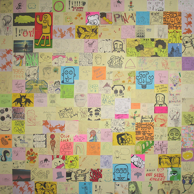 Cool post-it note collage