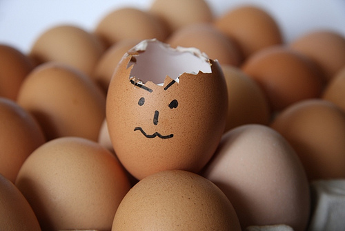 Poor egg, his head exploded