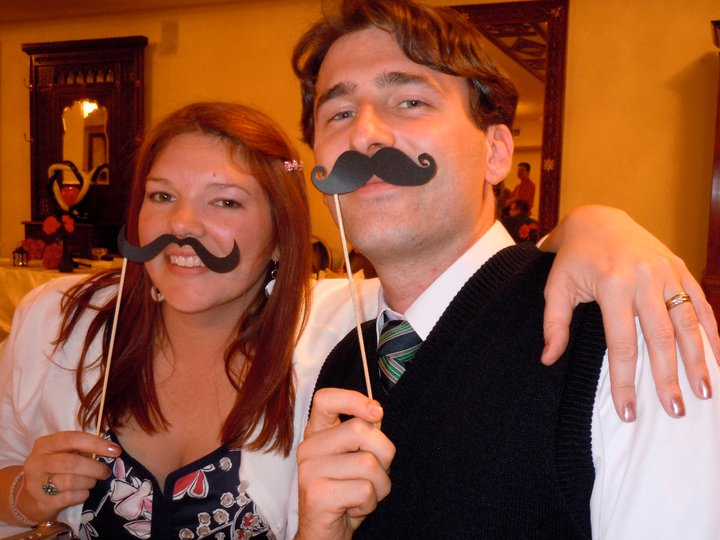 Tiffany and me, mustachioed