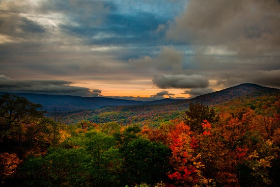 West Virginia Fall Sunset